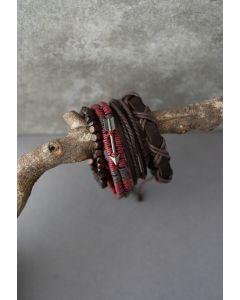 4 Packs of Arrow Braided String Bracelets