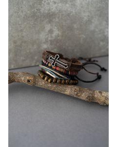 4 Packs of Cross Braided String Bracelets