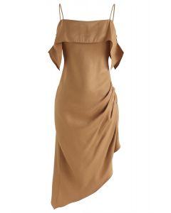 Tan中充滿激情的拉丁不對稱Cami連衣裙