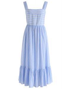Summery Sense藍色條紋Cami連衣裙