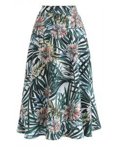 熱帶花卉A字半身裙
