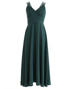 完美的周日交叉背Cami連衣裙綠色