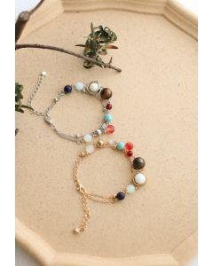 Galaxy Layered Metal Beads Bracelets